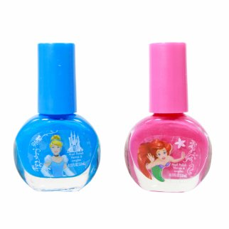 Disney Princess Pink and Blue Nail Polish 2 Piece Set