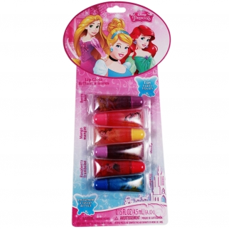 6pc Disney Princess Lip Tube Gloss Stocking Stuffer Gift