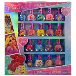 Disney Princess Dress-up 18 Piece Nail Polish Gift Set