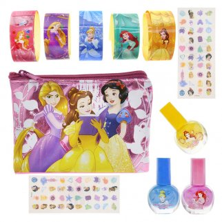 Disney Princess Nail Polish Sticker Glitter Tattoo Set