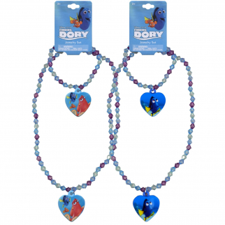 Disney Pixar Matching Best Friend Jewelry Set Necklace and Bracelet featuring Hank the Octopus and Dory