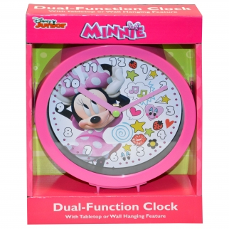 Pink Minnie Mouse In Box 6 Inch Clock