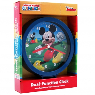 Mickey Mouse Disney Analog Tabletop or Wall Clock Blue Childrens Playroom, Bedroom, Home Decor Retail Packaging