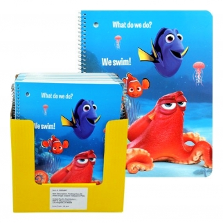 Finding Dory 50 Sheet Single Subject Spiral Note Pad for Kids Back to School