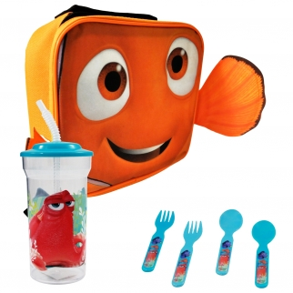 Disney Pixar Finding Dory Nemo Face Rectangle Lunch Bag Bundle