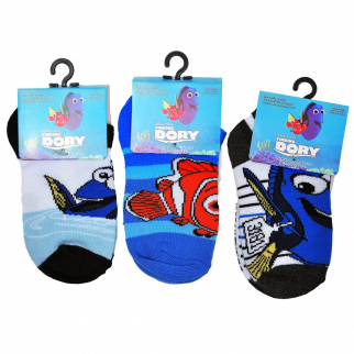 3pk Disney Pixar Finding Dory Kids Ankle Socks Sizes 6-8