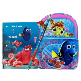 Finding Dory, Nemo, and Hank the grumpy octopus Kids School Travel Gift Set