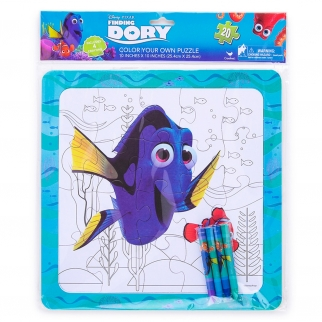 Disney Pixar Finding Dory Color Your Own Kids Puzzle Activity Set with Crayons
