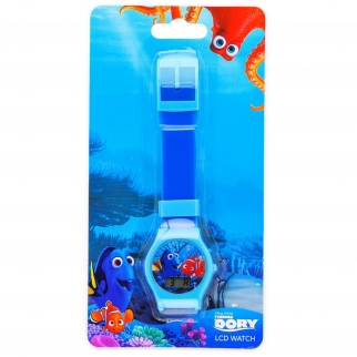 Disney Pixar Finding Dory Kids LCD Digital Watch Stocking Stuffer - Blue