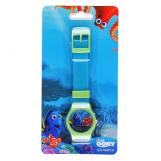 Disney Pixar Finding Dory Kids LCD Digital Watch Stocking Stuffer - Green