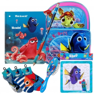 6 Piece Disney Finding Dory Kids Travel, School, Car Gift Bundle Boys Girls