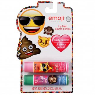2pk Emoji Lip Balm Girls Lip Gloss Sticks