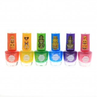Emoji Licensed Nail Polish Girls Dress Up Party 6pk