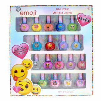 Emoji Character 18 PC Nail Polish Set Non-Toxic Peelable