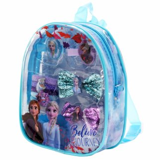 Disney Frozen 2 Girls Hair Accessory Mini Backpack 10 Pieces