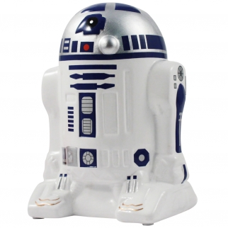 Star Wars Space Coin Bank Ceramic Painted