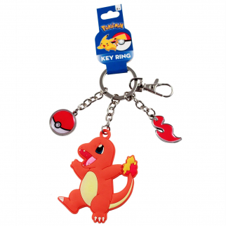 Charmander Rubber Charm Keychain Accessory