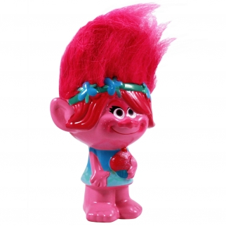 Dreamwork Trolls Poppy Ceramic Coin Piggy Bank - Pink Troll Hair