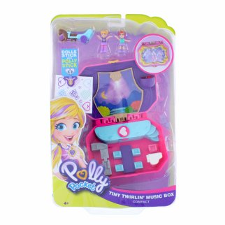 Pocket World Pink Tiny Twirlin? Music Box Compact Toy