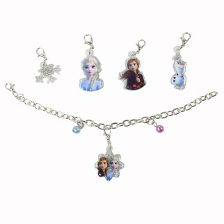 Disney Frozen Girls Interchangeable Charm Bracelet Gift Set