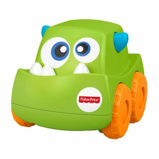 Fisher Price Mini Monster Truck Roller Push Toy Car - Green