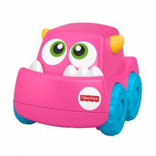 Fisher Price Mini Monster Truck Roller Push Toy Car - Pink