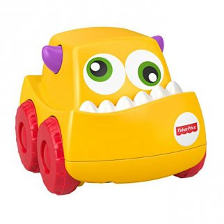 Fisher Price Mini Monster Truck Roller Push Toy Car - Yellow