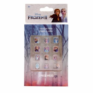 Disney Frozen 2 Girls Press On Nails Beauty Gift Set 12pcs