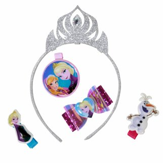 Frozen Tiara Accessories Set With Hair Bow And Clips 6 Piece