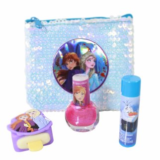 Frozen 2 Nails and Lips Cosmetics Set With Sequin Bag