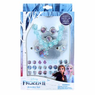 Disney Frozen 2 Girls Costume Jewelry Set Bracelet Rings