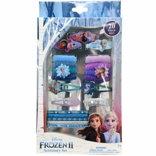 Frozen 20 Piece Accessory Hair Tie and Snap Clip Variety Set