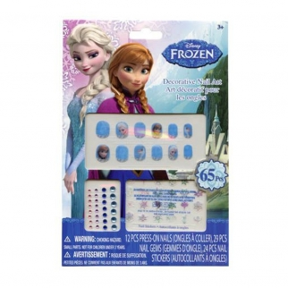 Disney Frozen Girls Nail Art Gift Set Press On Nails Gems Stickers