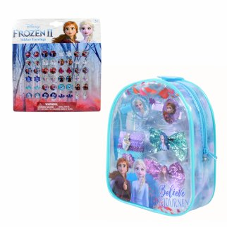 Disney Frozen 2 Girls Dress Up Hair Bows Clips Earrings 34pc