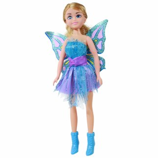 TychoTyke Girls Fairy Princess Doll Blue Dress 17 Inch Tall