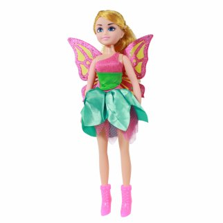 TychoTyke Girls Fairy Princess Doll Green Dress 17 Inch