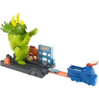Hot Wheels Smashing Triceratops Launched Play Set for Kids