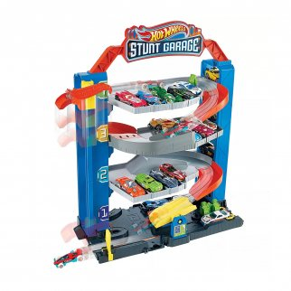 Hot Wheels City Stunt Multilevel Garage Die Cast Car Playset