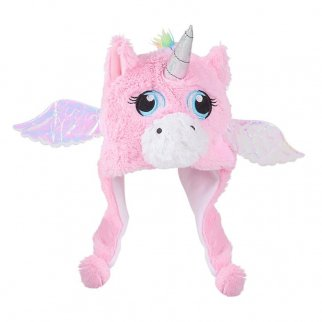 TychoTyke Kids Unicorn Plush Hat with Sparkle Ears - Pink