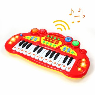 Tycho Tyke Kids Electronic Keyboard Organ Musical Instrument Toy - Red