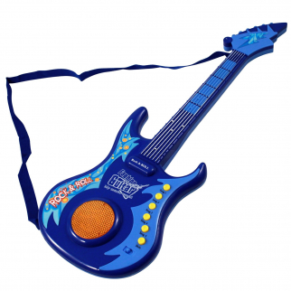 Kidfun Girls Rock Star Guitar Lights and Sounds with Adjustable Strap - Blue