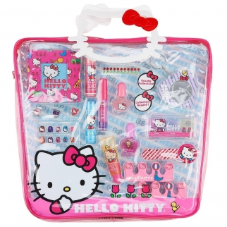 Sanrio Hello Kitty Make Up Pretend Play Gift Set Purse Tote