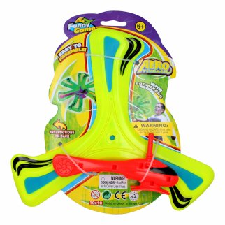 Kidplokio Helicopter Flying Boomerang Action Disc Kids Toy