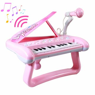 Little Pianist Sing Playtime Musical Piano Microphone Pink