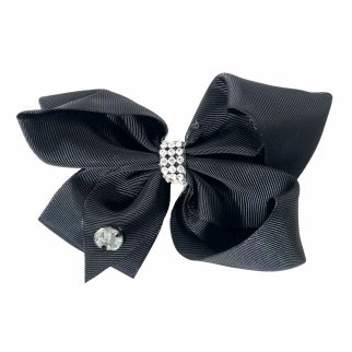 Nickelodeon JoJo Siwa Girls Hair Clip Bow Black Rhinestones