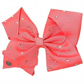 Nickelodeon JoJo Siwa Girls Large Coral Bow with Rhinestones