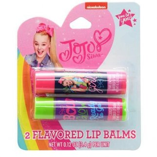 Nickelodeon JoJo Siwa Girls Flavored Lip Balm Gift Set 2pc