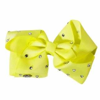 Nickelodeon JoJo Siwa Kids Light Yellow Bow with Rhinestones