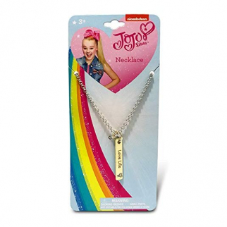 JoJo Siwa Girls Pendant Necklace Vertical Bar Love Life Kids Fashion Jewelry