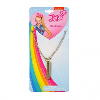 JoJo Siwa Girls Pendant Necklace Vertical Bar Just Have Fun Kids Fashion Jewelry